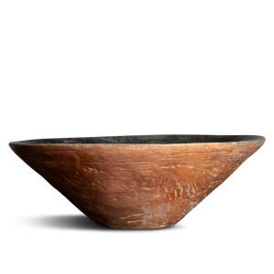 Large Egyptian black-top bowl, Predynastic Period, Naqada I, c.4400-3500 BC