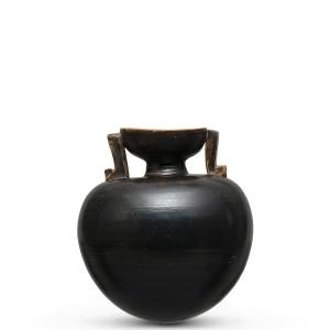 Greek black-glaze aryballos, Athens, c.525-475 BC