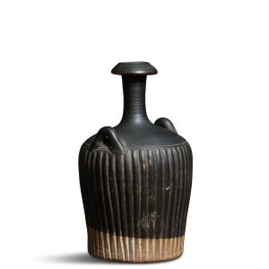 Greek black-glaze ribbed amphoriskos, Sicily, c.300-275 BC