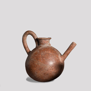 Cypriot Red Polished Ware spouted 'teapot', c.2000-1850 BC
