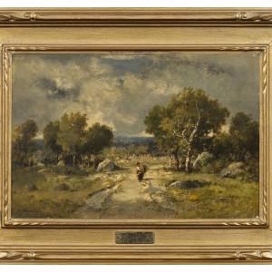 SHEPHERDESS IN A WOODED LANDSCAPE (FAGOTIÈRE)