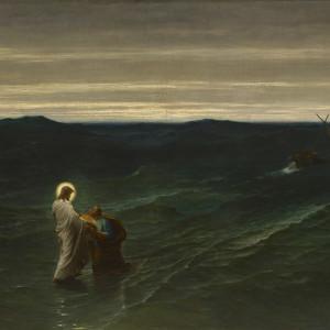 JESUS AND PETER ON THE WATER (JESUS ET PIERRE SUR LES EAUX )