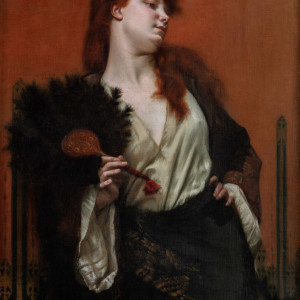 LADY WITH A FAN (UNE CAPTIVE)