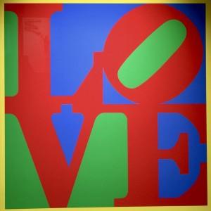 Robert Indiana, Heliotherapy Love, 1995