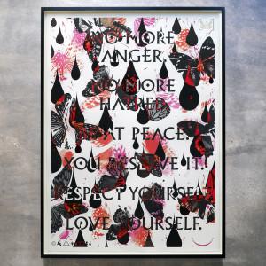 Iain Cadby, No More Anger, No More Hatred, 2017