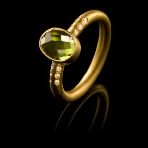 Diamond Bon Bon Stacking Ring