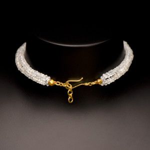 Aquamarine and Tourmaline Tassle Necklace