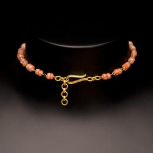 Sunstone and Tourmaline Petal Necklace