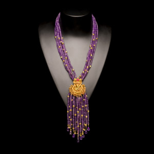 Amethyst Apsara Necklace