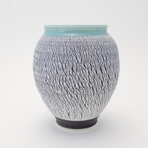 Hugh West, Black and White Turquoise Vase, 2018