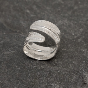 Marsha Drew, Turning Leaf Ring Slate