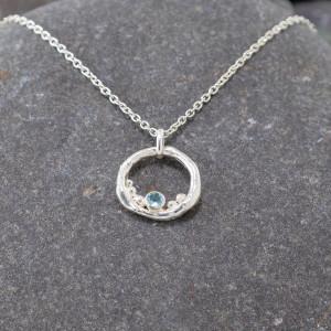 Marsha Drew, Rockpool Bubble Pendant with Aquamarine