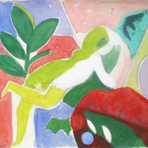 Caziel, Reclining Nude, c. 1938