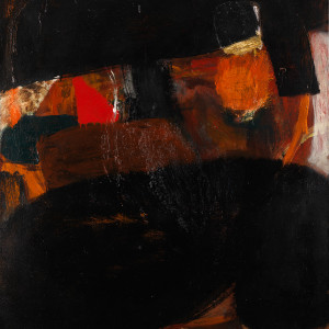 Albert Irvin RA, Black Moves, 1964