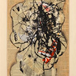 Reinhold Koehler, Raum-Feld-Körper, Contre-Collage, 1963