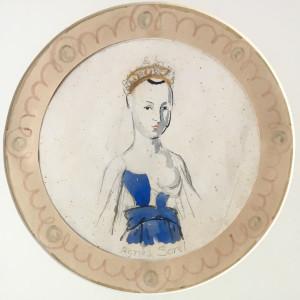 Vanessa Bell, Plate Design: Agnes Sorel, 1932