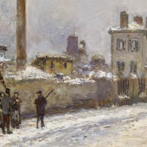 STREET SCENE IN PARIS IN WINTER: RUE NOTRE-DAME-DES-CHAMPS