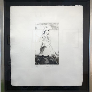 David Hockney, The Enchantress in Her Garden , 1969