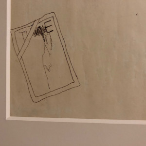 David Hockney, Study for 'Peter Nude, Sitting on Edge of Bed' Ink on Paper Original David Hockney, 1968