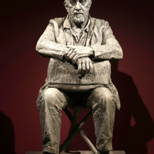 Seated Figure (monotone), 2016