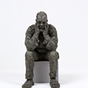 Seated Man Triptych, 2016