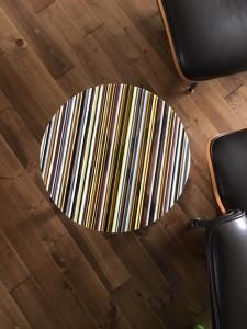 Romy Randev, White Striped Table 1, 2017