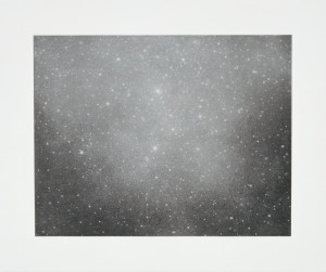 "Vija Celmins Night Sky 3, 2002 single colour print with photogravure, aquatint & drypoint 50.17 x 60.33 cm19 3/4"" x 23 3/4"" (paper size) edition of 65"