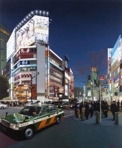 Christian Marsh Shibuya Crossing at Night, Tokyo Oil on canvas 170 x 140 cm