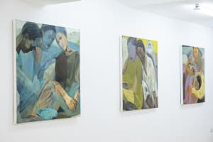 Installation View of Heber: Tizta Berhanu. Courtesy of Eyerusalem Jiregna