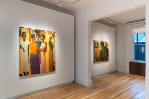 Installation View of Pillars of Life: Tadesse Mesfin at Cromwell Place. Courtesy of Lucy Emms.