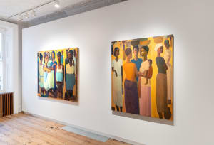 Tadesse Mesfin, Installation view of Pillars of Life at Cromwell Place. Image courtesy of Lucy Emms and Addis Fine Art