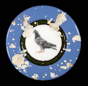 Evan Burnette, Commemorative Pigeon Plate #1, 2018