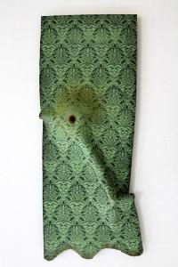 Ligia Bouton, Green Wallpaper 1: Inhale/Exhale, 2016