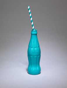 Clive Barker, Turquoise Coke with Straw, 2019