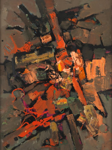 Frank Avray Wilson, FAW823 - Composition in Red, 1989