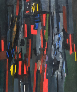Caziel, WC480 - Composition ' Rhythme Lacere', 1963
