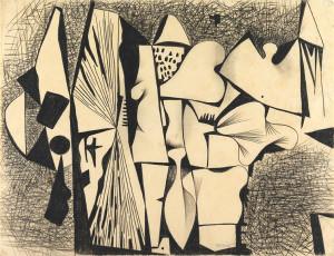 Caziel, WC067 - Organic Composition, c. 1951