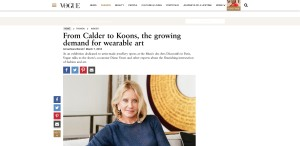 From Calder to Koons, the growing demand for wearable art