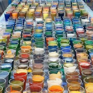 Image from @iandavenportofficial studio, nearly 400 cups of colour mixed...