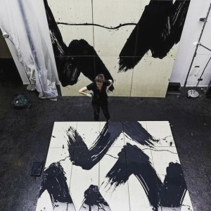 Fabienne Verdier is an abstract painter who explores the dynamism...