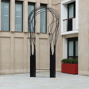 Pablo Reinoso has recently unveiled a sculptural 6-metre metal archway...