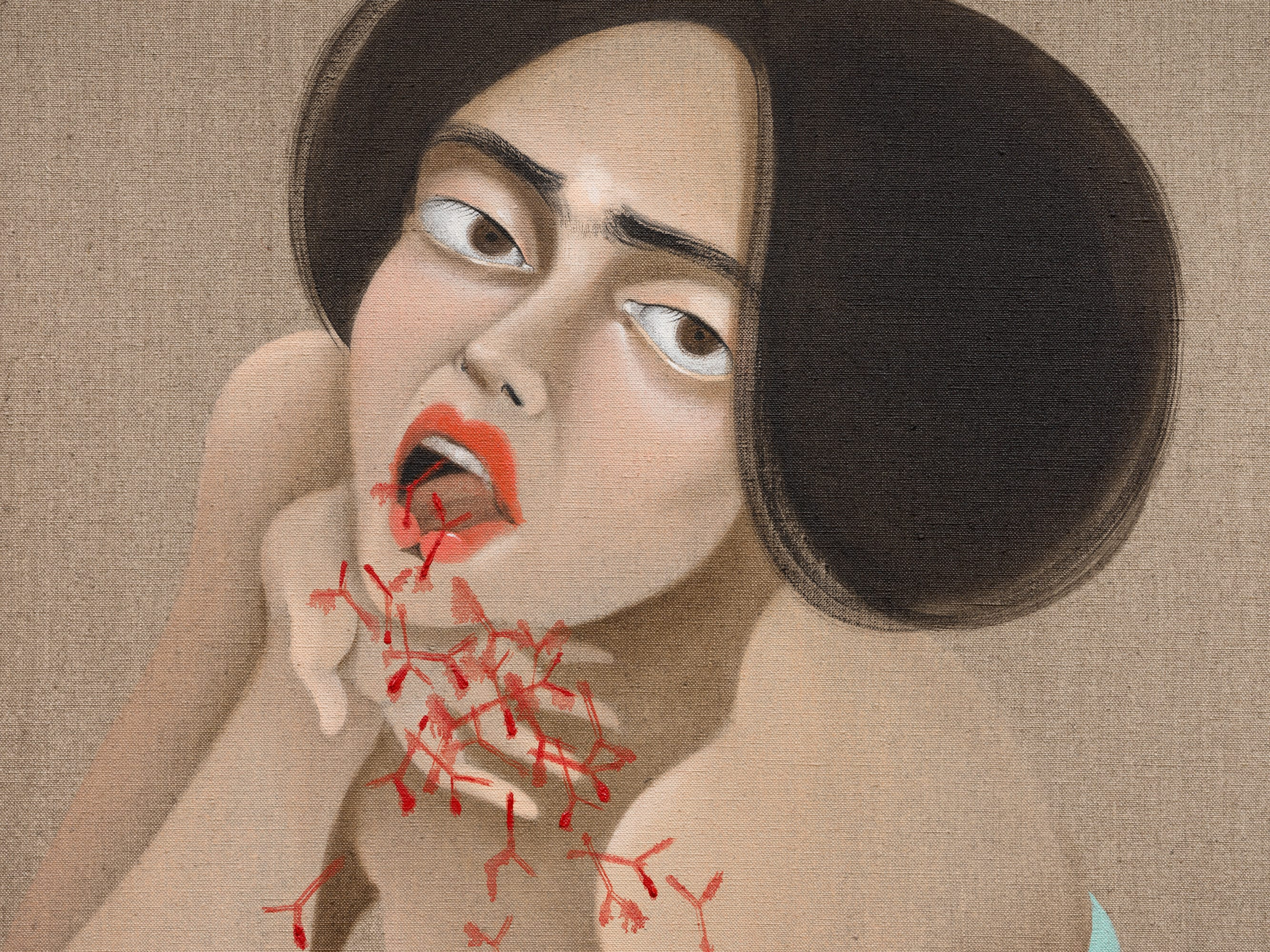 Hayv Kahraman The touch of Otherness (second iteration)