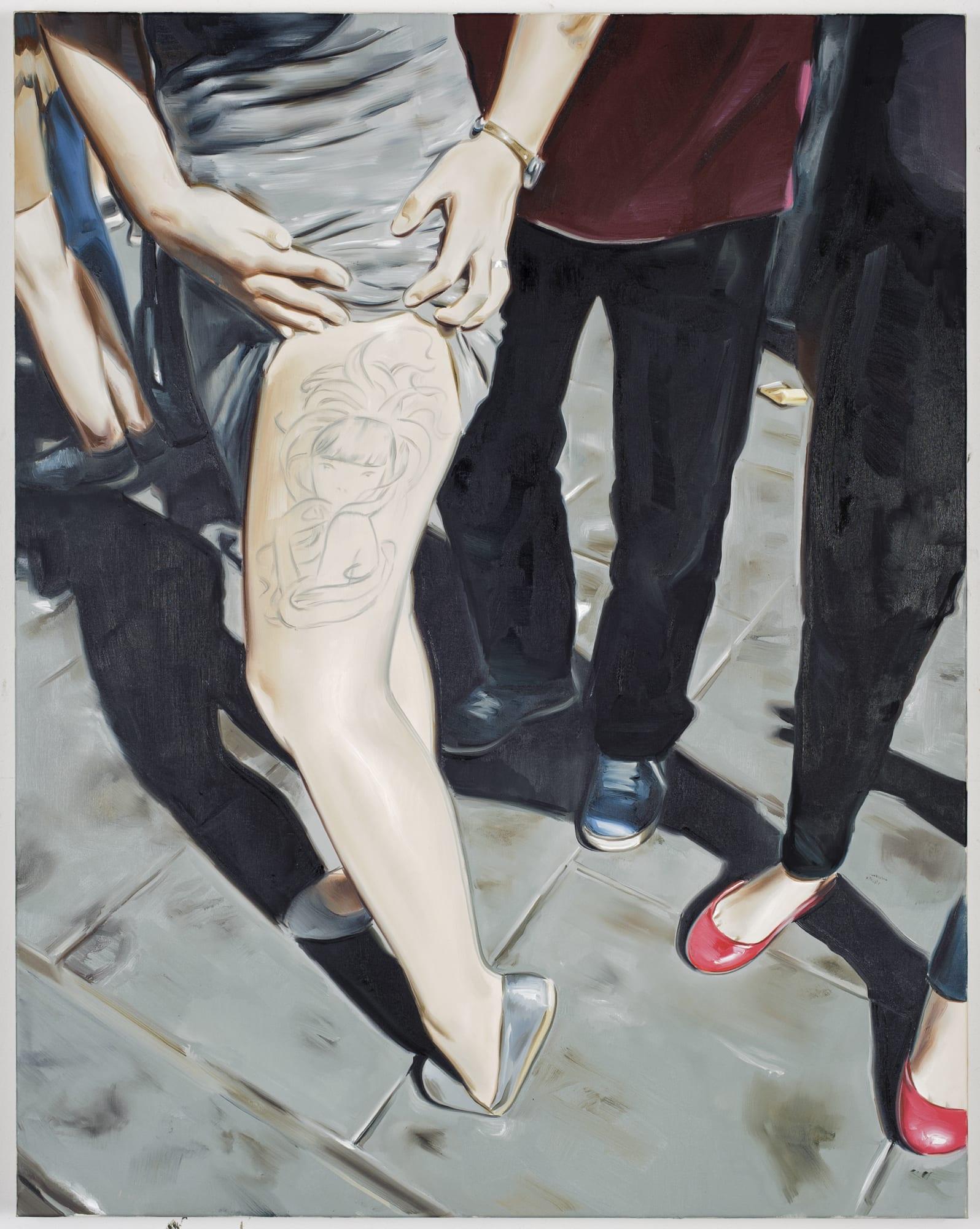 Marcin Maciejowski, Tattoo (Audrey Kawasaki) (2019); Private View at Thaddaeus Ropac Ely House 2019