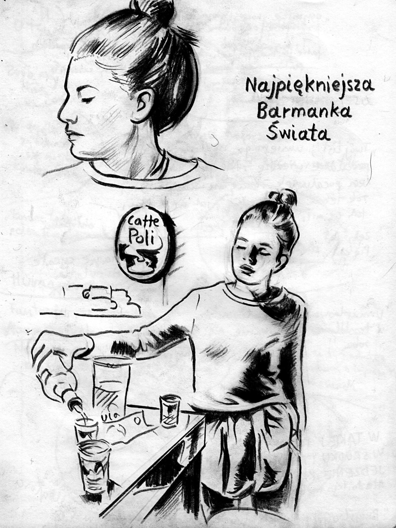 Marcin Maciejowski, Najpiekniejsza barmanka swiata (2019); Private View at Thaddaeus Ropac Ely House 2019