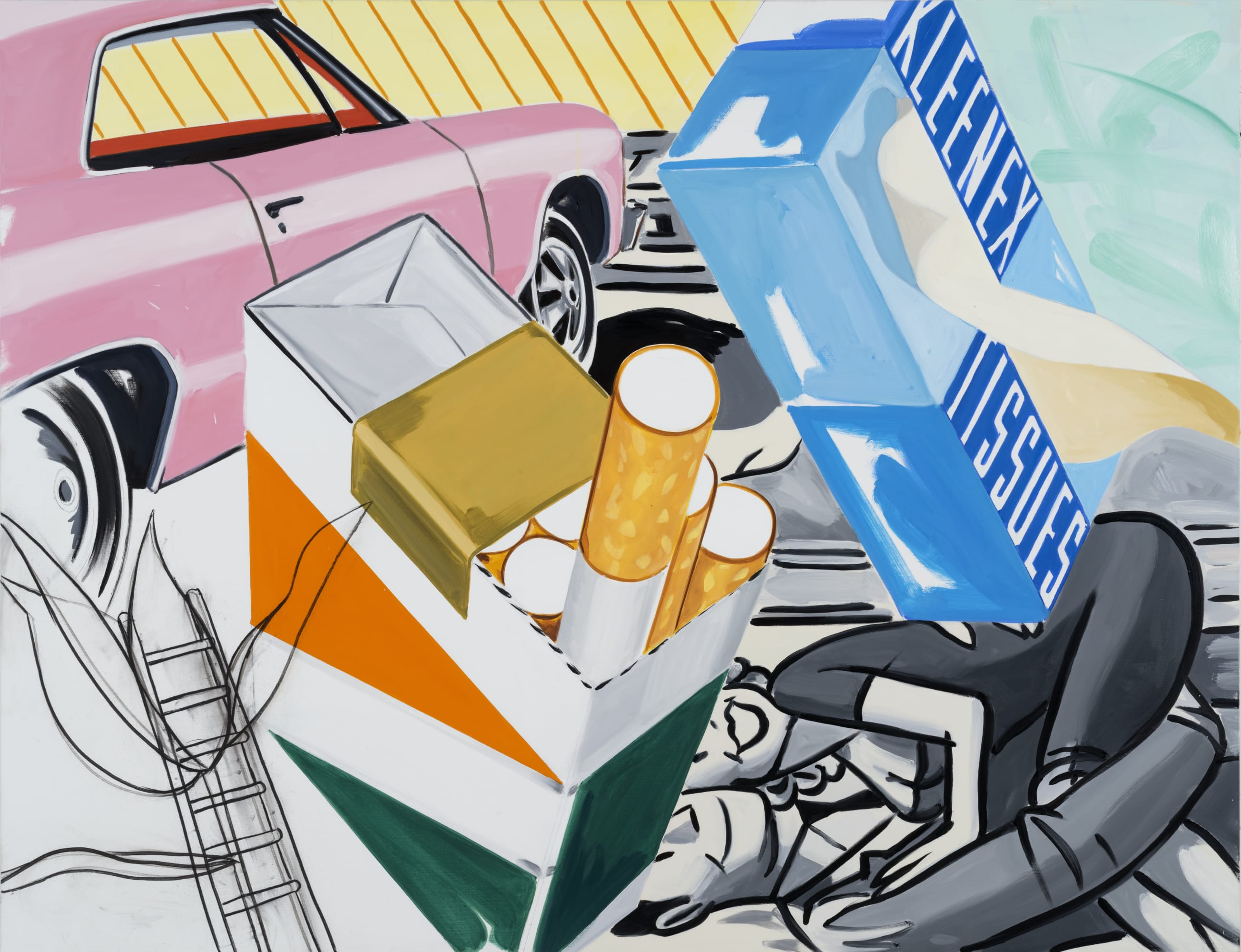 David Salle, Shining in All Directions (2019); Self-Ironing Pants & Other Paintings at Thaddaeus Ropac Paris Marais 2020