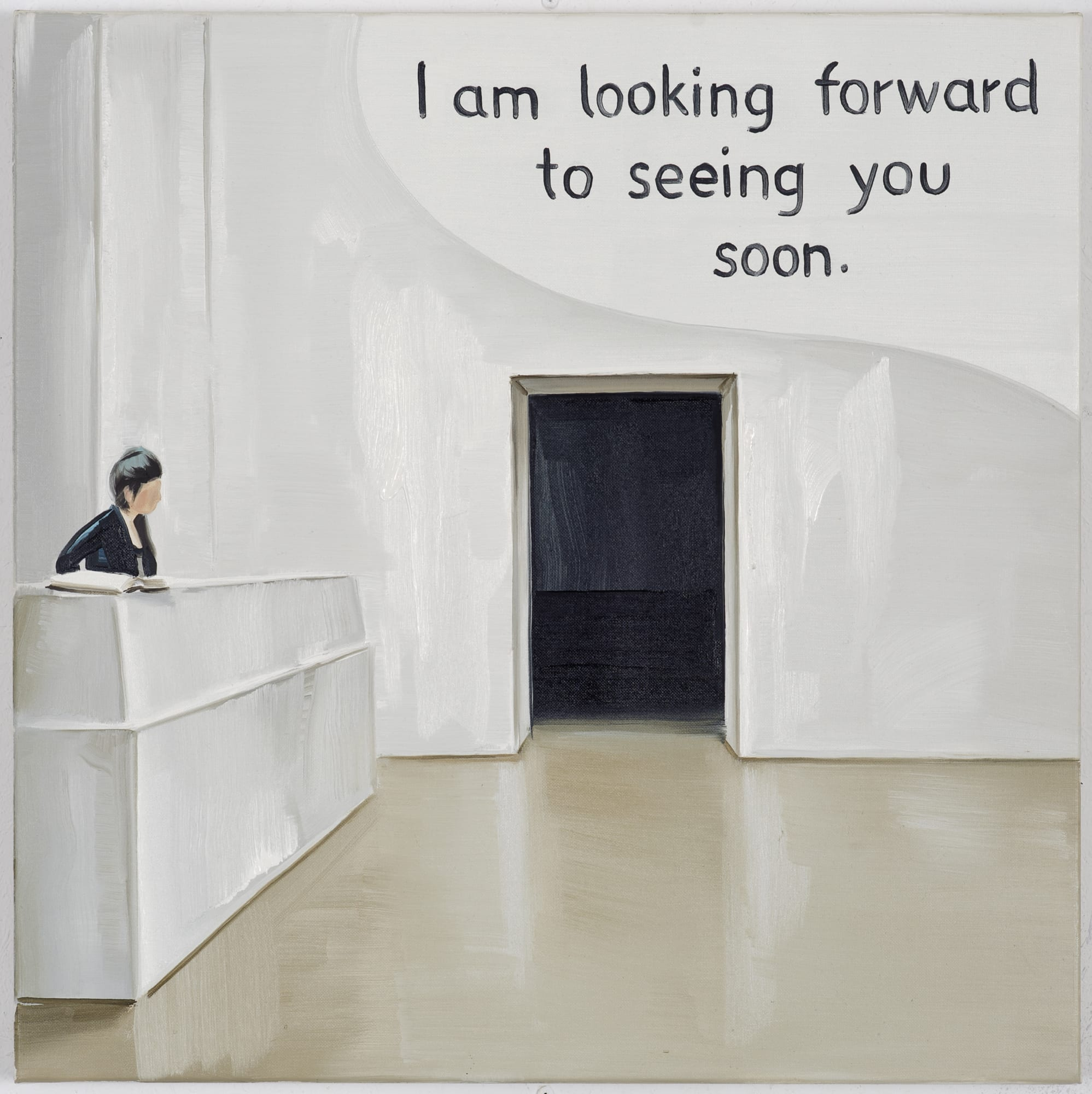 Marcin Maciejowski, I'm looking forward to seeing you soon (2014); Private View at Thaddaeus Ropac Ely House 2019