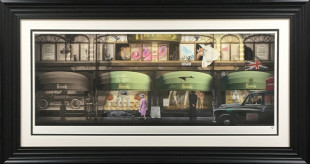 """JJ Adams Harrods - Through The Ages, 2018 Signed Limited Edition Frame Size: 51.5"""" x 27.5"""" Limited Edition of 95"""