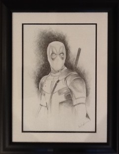 Marie Louise Wrightson Dead Pool, 2018 Framed Original Drawing 16 1/2 x 11 3/4 in 41.9 x 29.7 cm