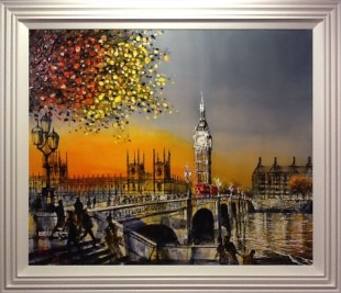 Nigel Cooke When The Day Is Done Framed original on board Framed Size56 x 48 in Framed Size 142.2 x 121.9 cm