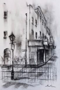 Marc Gooderham Handbags & Gladrags, 2018 Original Sketch on Paper Framed Size 17 x 13 in Framed Size 43.2 x 33 cm